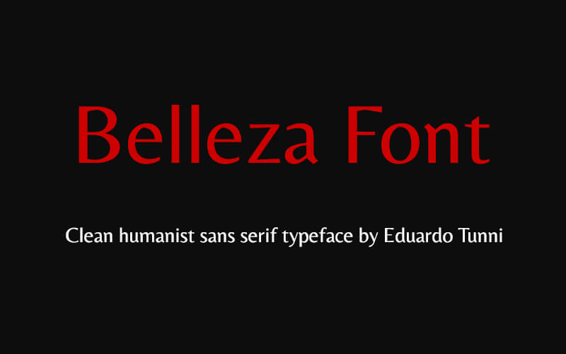 Belleza Font Family Free Download