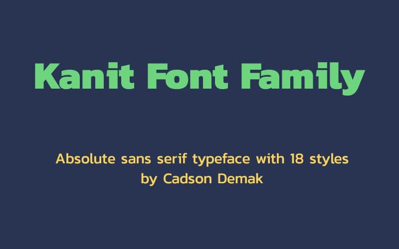 Kanit Font Family Free Download
