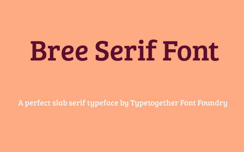 Bree Serif Font Family Free Download