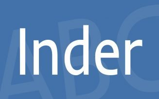 Inder Font Family Free Download