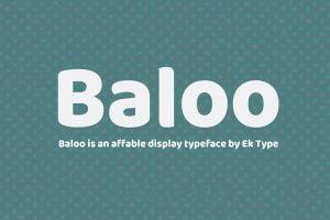 Baloo Paaji 2 Font Family Free Download