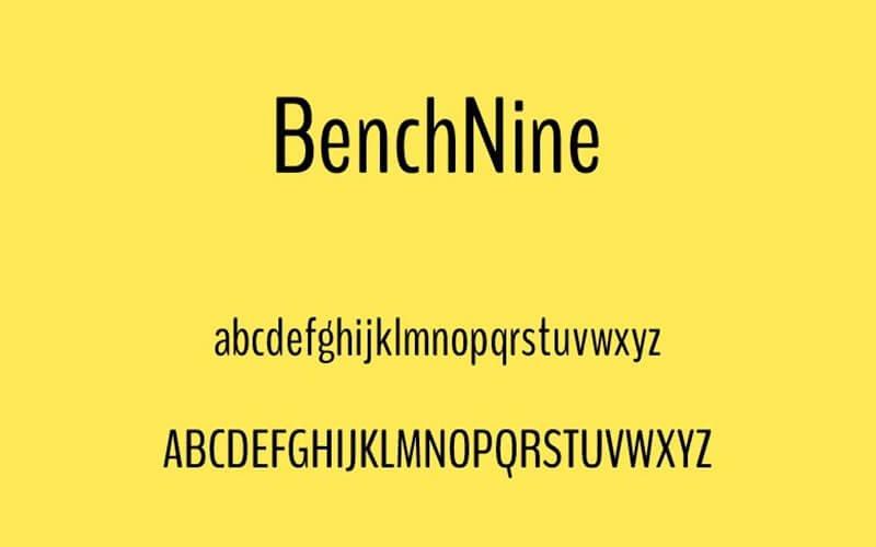 Benchnine Font Family Download