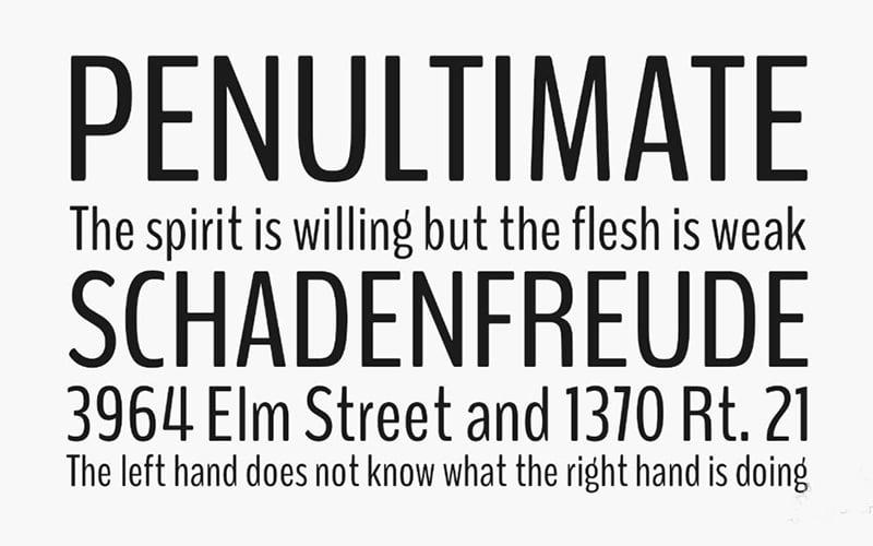 Benchnine Font Free Download