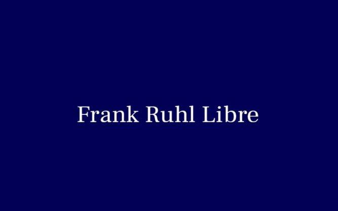 Frank Ruhl Libre Font Family Free Download