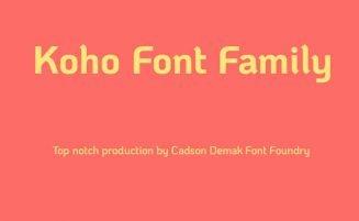 Koho Font Family Free Download