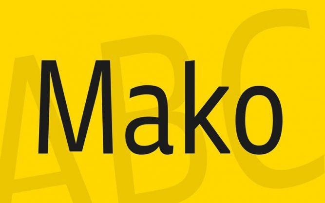 Mako Font Family Free Download