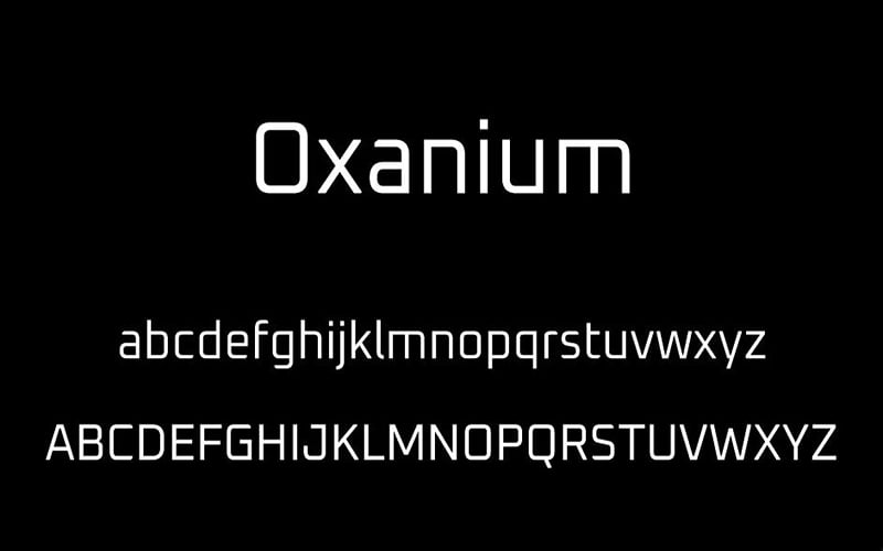 Oxanium Font Free Download