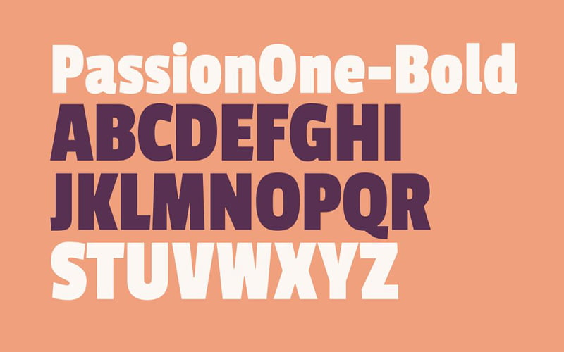 Passion One Font Free Download
