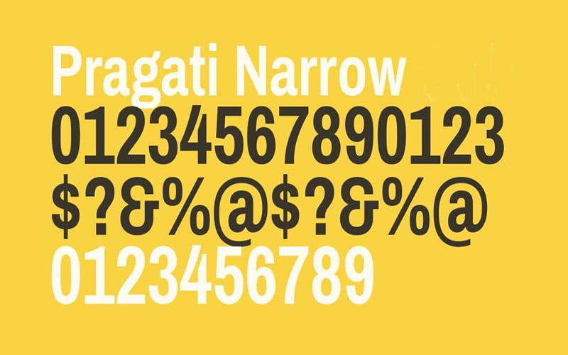 Pragati Narrow Font Free Download