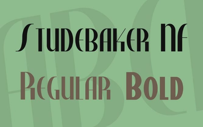 Studebaker Font Family Free Download
