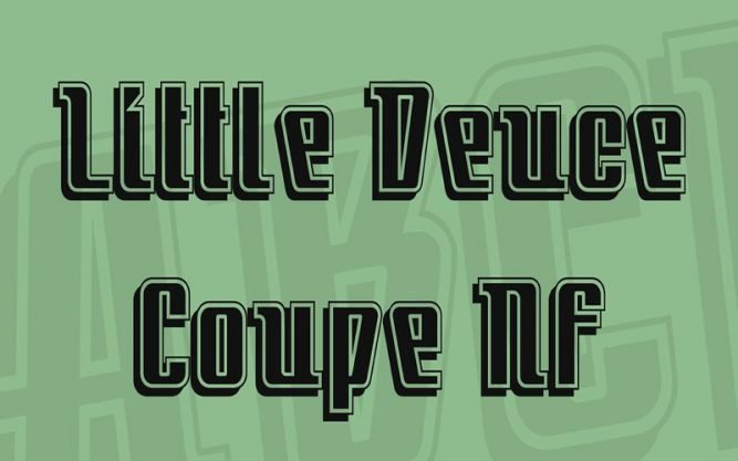 Little Deuce Coupe Font Family Free Download