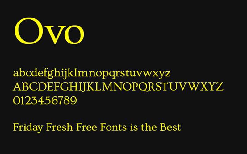 OVO Font Free Download