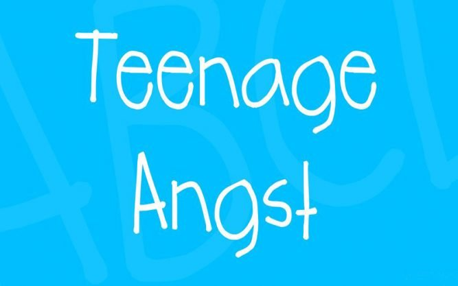 Teenage Angst Font Family Free Download
