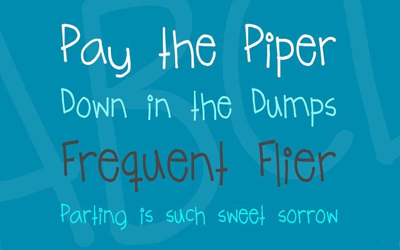 Teenage Angst Font Free Download