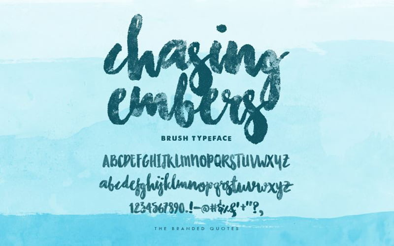 Chasing-Embers-Font-Family-Download