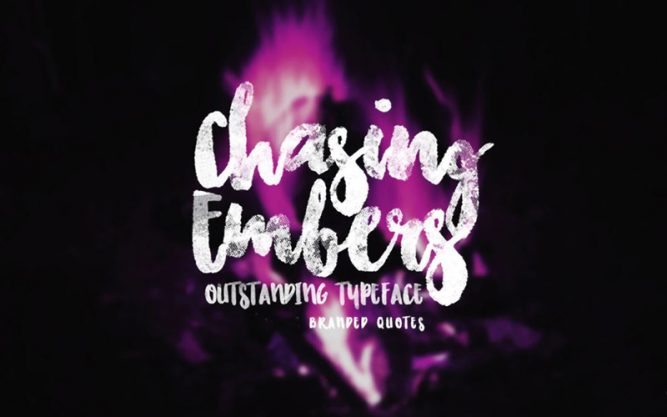 Chasing Embers Font Family Free Download