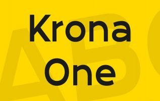 Krona One Font Family Free Download