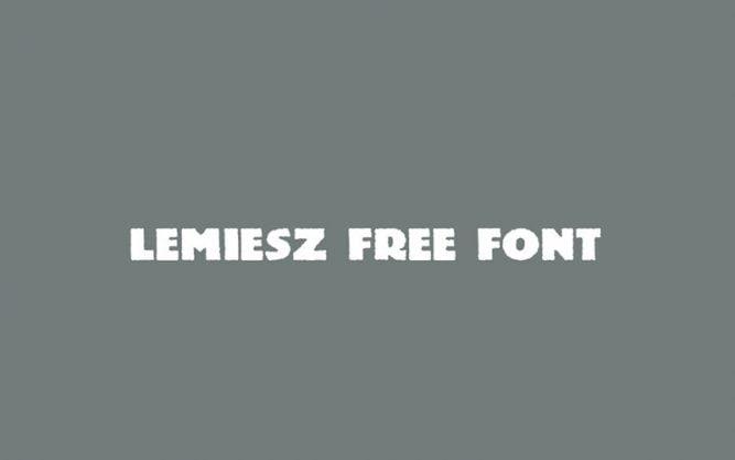 Lemiesz Font Family Free Download