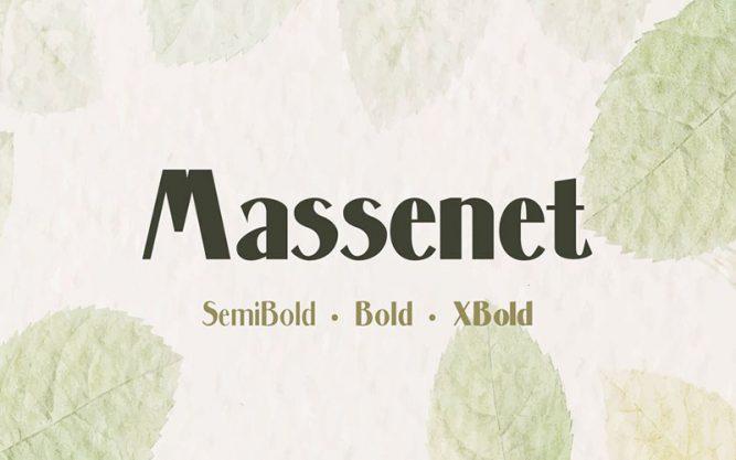 Massenet Font Family Free Download