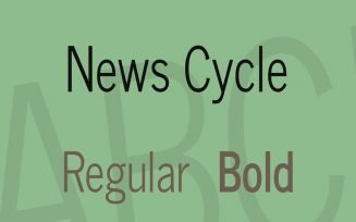 News Cycle Font Family Free Download