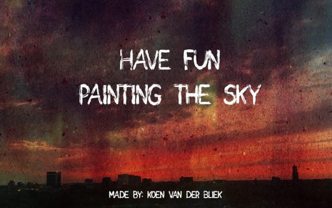 Paint the Sky Font Family Free Download