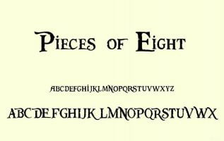 Pieces Of Eight Font Family Free Download