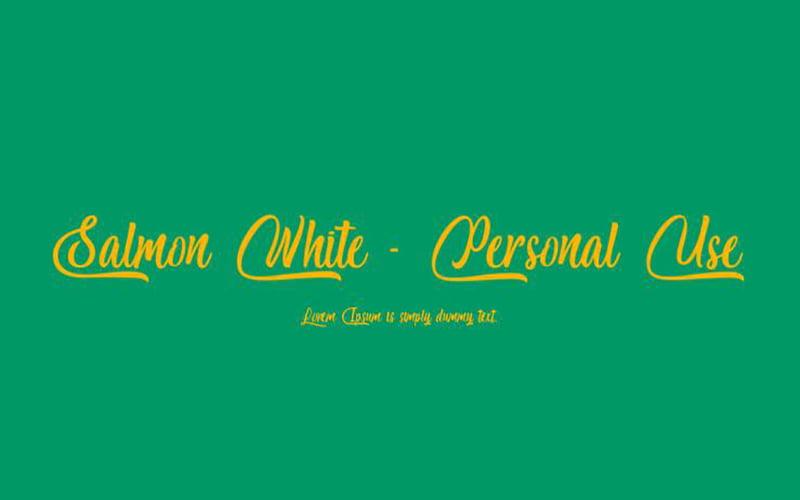 Salmon-White-Font-Family-Download