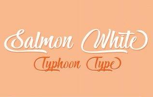Salmon White Font Family Free Download