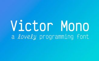 Victor Mono Font Family Free Download