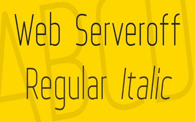 Web Serveroff Font Family Free Download