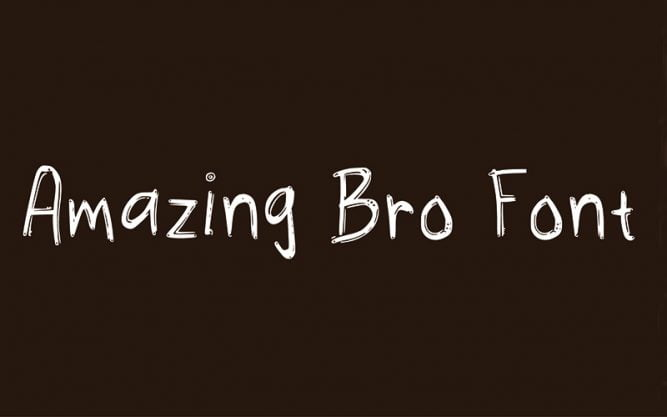 Amazing Bro Font Family Free Download