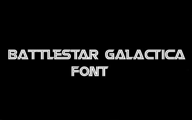 Battlestar Galactica Font Family Free Download