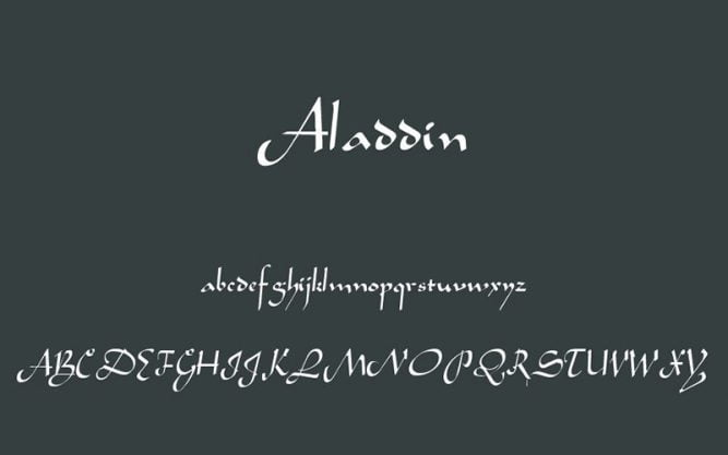Aladdin Font Family Free Download