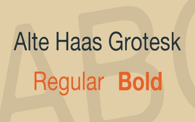 Alte Haas Grotesk Font Family Free Download