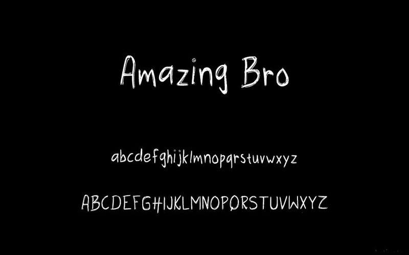 Amazing Bro Font Free Download