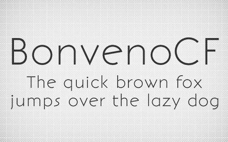 BonvenoCF Font Free Download