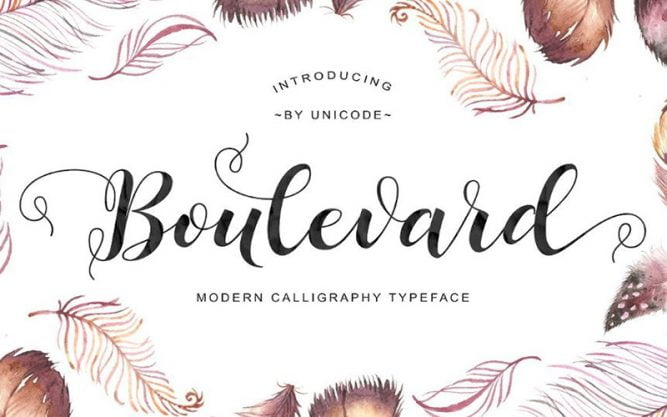 Boulevard Font Family Free Download