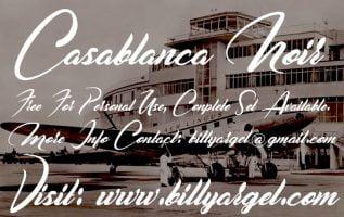 Casablanca Noir Font Family Free Download