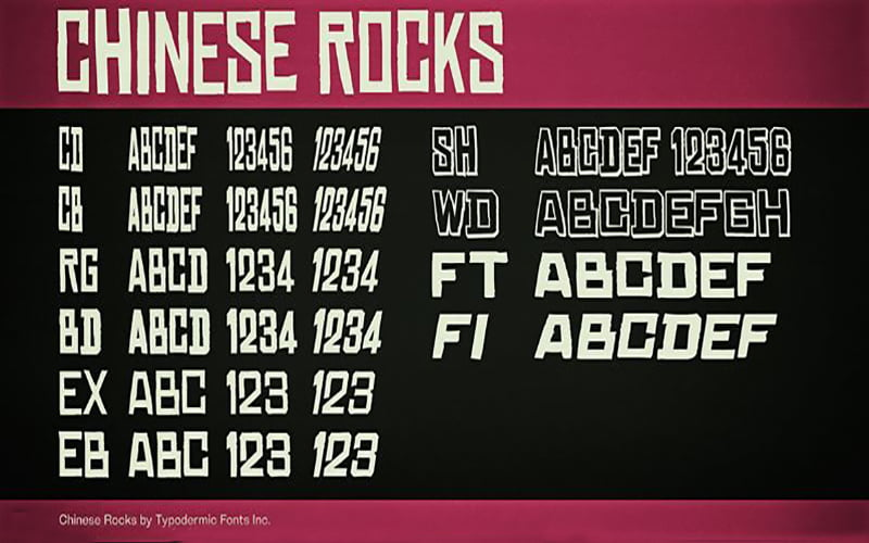 Chinese-Rocks-Font-Family-Download