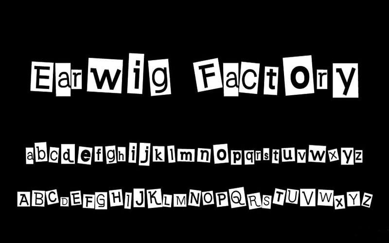 Earwig Factory Font Free Download