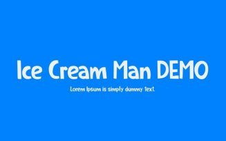 Ice Cream Man Font Family Free Download