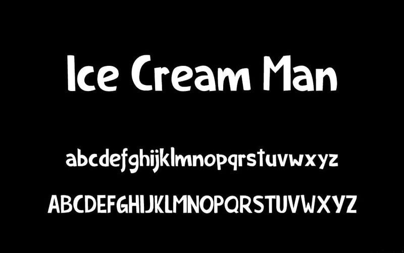 Ice Cream Man Font Free Download
