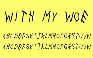 With My Woes Font Family Free Download