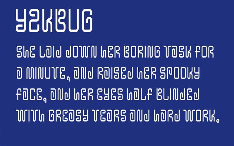 Y2K Bug Font Free Download