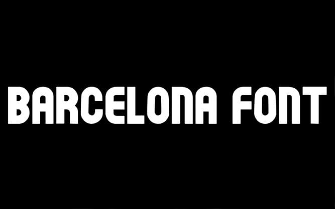 Barcelona Font Family Free Download