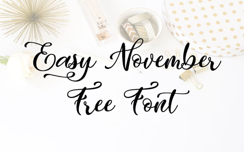 Easy November Font Free Download