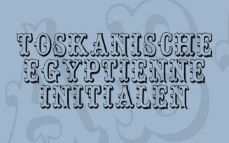 Toskanische Egyptienne Initialen Font Family Free Download