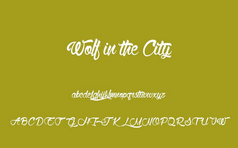 Wolf In The City Font Free Download