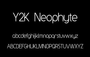 Y2K Neophyte Font Family Free Download
