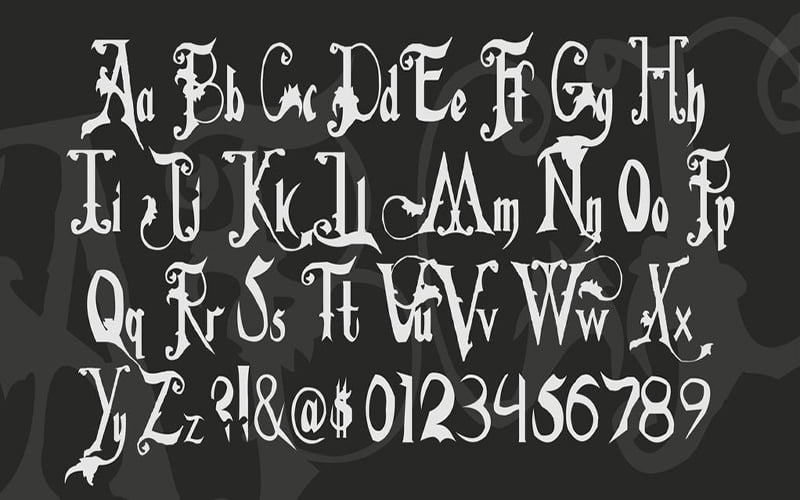 Addams-Family-Font-Family-Download